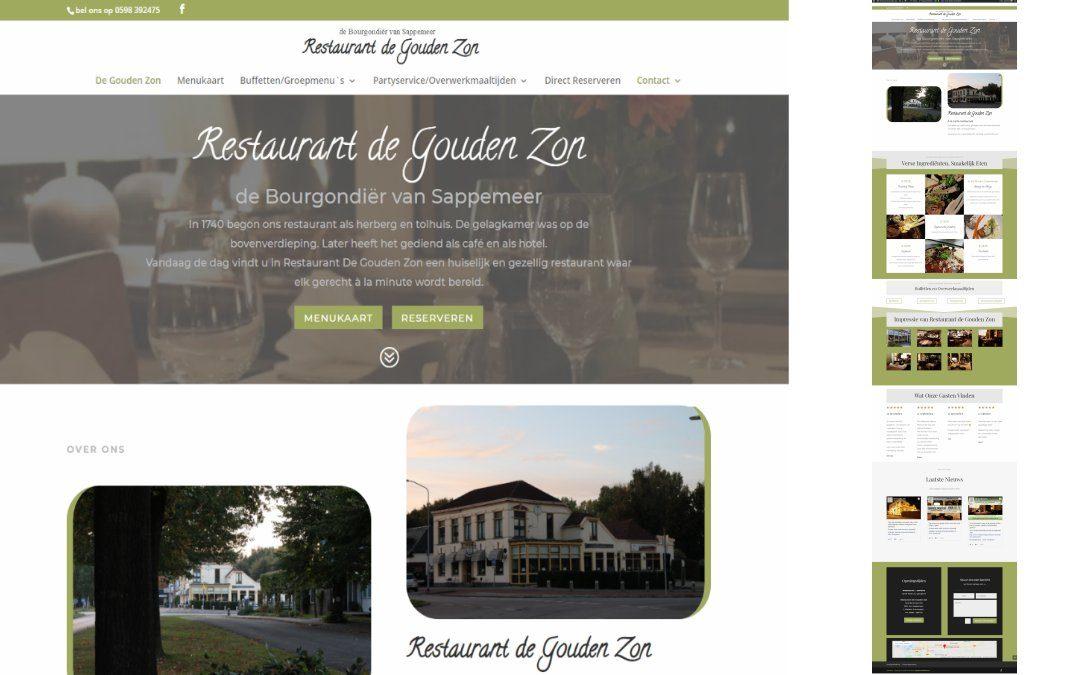 restaurant de gouden zon website https://update-website.nl