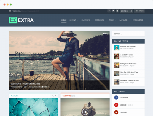 U-W-Wordpress Thema Extra Eleganttheme-Update-Website