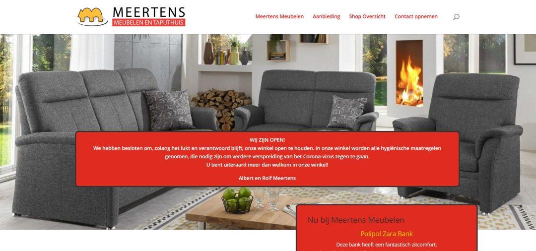 meertens meubelen veendam nieuwe website update website